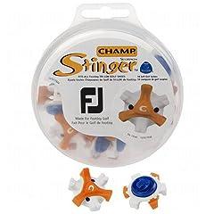 CHAMP Scorpion Stinger Tri-Lok Spikes for FootJoy Golf Shoes, Orange White by Champ