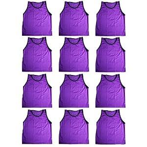 BlueDot Trading Youth High quality Purple sports pinnies 12 High quality scrimmage... by Bluedot Trading