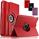 KEVENZ Apple iPad Air Covers & Cases 360 Rotating Stand for iPad 5 Case Cover (5th Generation) - Red - K501