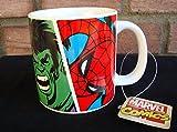 Disney Marvel Heroes Comic Strip Style Art Coffee Mug (Hulk, Iron-Man,Captain America,Spider-Man) [2013 Official Licensed Merchandise]