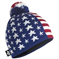 Turtle Fur - Men's Patriotic, Midweight Merino Wool American Pom Hat, Red