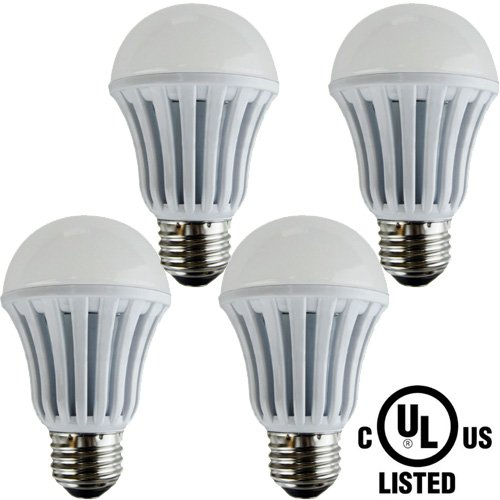 Paclights Plus60 Extra Bright Led Light Bulbs (Pack Of 4) 9-Watt, Cool White / Daylight, 60W To 75W Equivalent Replacement (1050 Lumens), E26 Medium Base A19, Ul Listed