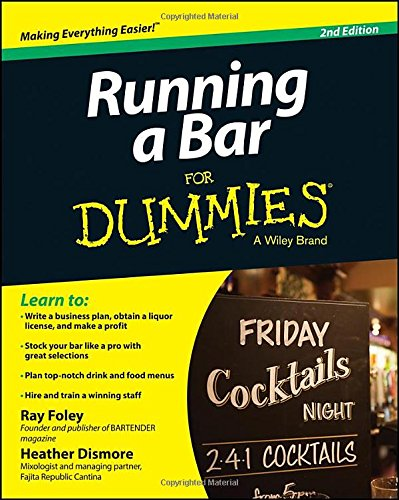 Running a Bar For Dummies (Open A Bar compare prices)