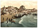 13cm x 18cm (1890 - 1900) Vintage Photochrom Postcard Reprint of East Parade, Bognor (Bognor Regis), West Sussex, England