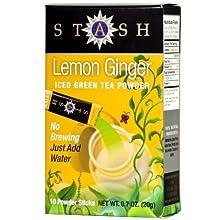 Lemon Ginger Green Iced Tea Powder
