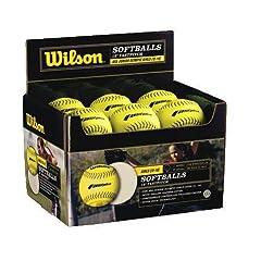Wilson WTA9031TASA-LOW Polycore Center Fastpitch Optic Yellow Softballs (1-Dozen,... by Wilson