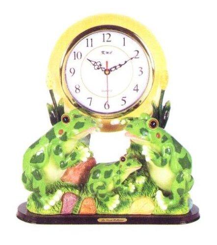 FROG 3D Shelf Mantle Clock w/ GREAT Detail *NEW*!