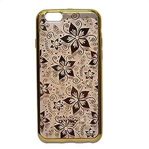 Iphone 6/6s Meephong Designer Printed Transparent Soft Back Case Cover-Gold