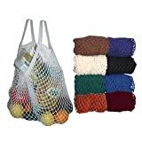 100% Cotton Market String Bags - Now in COLORS!