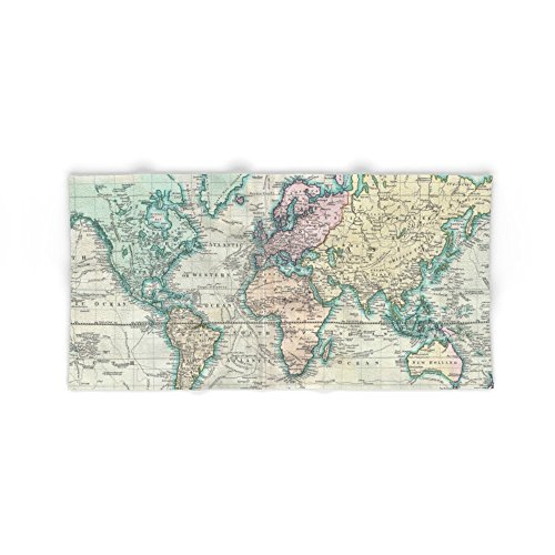 Society6 Vintage Map Of The World (1801) Bath Towel 64