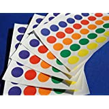 700 STICKY COLOURED DOTS 13mm LABELS DOTS ROUND CIRCLES SELF ADHESIVE ASSORTED COLOURS