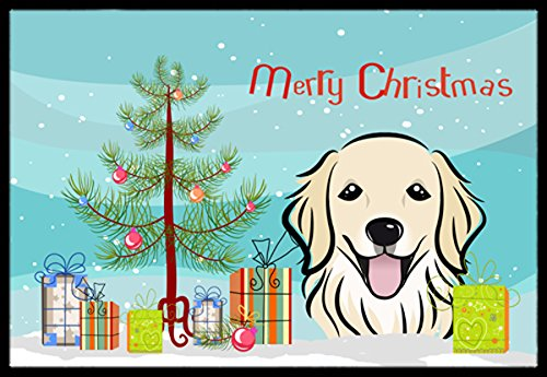 Caroline's Treasures BB1577JMAT Christmas Tree and Golden Retriever Indoor or Outdoor Mat, 24