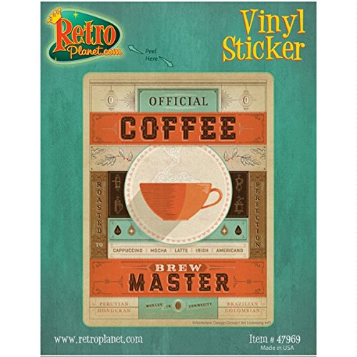 Retro Coffee Brew Master Sticker