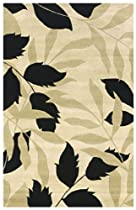 Big Sale Rizzy Home PR0227 Pandora 8-Feet by 8-Feet Round Area Rug, Ivory