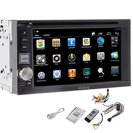 Lecteur DVD 6.2 pouces Android 4.2 GPS Navigation Headunit Car Stereo Radio Double2 DIN au tableau de bord SD USB Bluetooth Universal Video PC