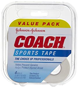 Johnson & Johnson Coach Sports Tape, 4 Count by Johnson & Johnson