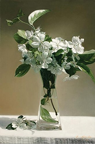 Oil Painting 'Still Life White Flowers In Glass', 30 x 46 inch / 76 x 116 cm , on High Definition HD canvas prints is for Gifts And Dining Room, Game Room And Laundry Room Decoration, (Coupon Spirit Halloween)