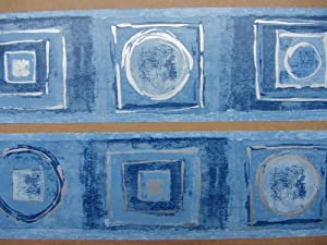 SAHARA DENIH BLUE WALLPAPER BORDER SELF ADHESIVE BEDROOM 5 x 12.5cm 30242 FREE SHIPPING HALLWAY LOUNGE