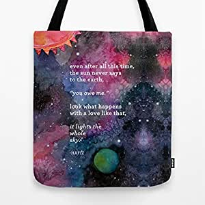 - The Sun Never Says Tote Bag by MEERA LEE PATEL: Sports & Outdoors