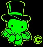 Comic Convention Decal Steam Punk Decal Chtulu Decal Green cute