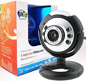 Webcam - New USB Web Camera - Webcam with built-in MIC - 5G Lens - Built-in microphone & LED lights, Plug and Play USB Web Camera which does not need any driver - Ideal Chat webcam