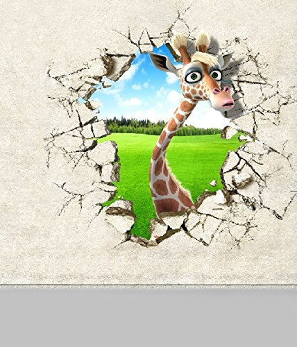 6.5 Ft*5 Ft (200cm*150cm) 3D Fundo Background Cartoon Giraffe Grassland 3d Baby Photography Backdrop K-014