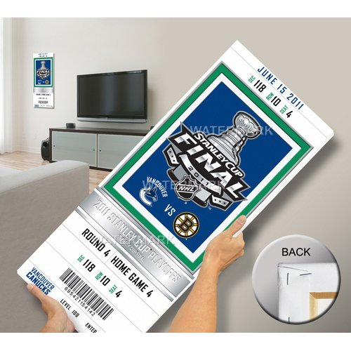 2011 NHL Stanley Cup Final Commemorative Mega Ticket - Vancouver Canucks-By BlueTECH