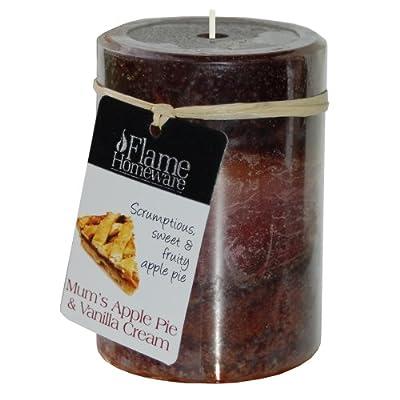 Flame - 4inch 10cm Pillar Candle - Mums Apple Pie Vanilla Cream by WATSONS