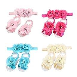 SKYLARKING For Little Baby Girl Newborn Turban Headband Head Wrap Wear Hair Band (set1)