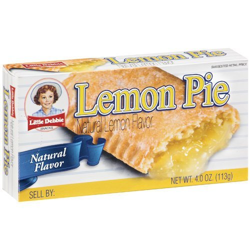 Little Debbie Lemon Fruit Pies 4 oz Individually Packaged (6 Pack)