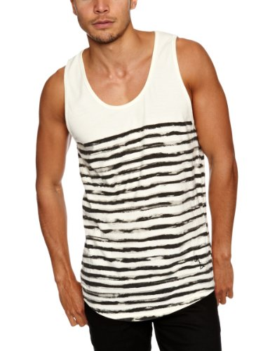 Religion Ltd Psl04 Painted Stripe Men's Vest Yellow Large