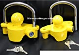 (Lot of 2) Same Key Universal Tow Trailer Coupler Lock Anti Theft Locks Protection
