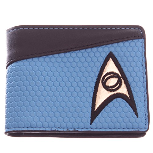 Star Trek Blue Bi-Fold Wallet with Science/Medical Logo