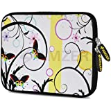 Amzer 7.75 Inch Neoprene Sleeve Butterfly Bay For Samsung GALAXY Tab 2 7.0, Google Nexus 7, Amazon Kindle Fire...