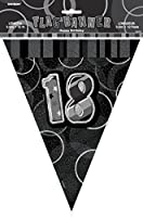Unique Party 12 ft Glitz Prism 18th Birthday Bunting Banner - Parent