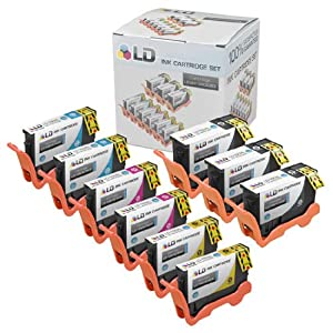 LD © Lexmark Compatible 150XL Bulk Set of 9 High Yield Ink Cartridges: 3 Black & 2 each of Cyan, Magenta and Yellow