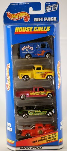1998 - Mattel - Hot Wheels - House Calls - Gift Pack - Set of 5 Trucks - Out of Production - Very Rare - Collectible