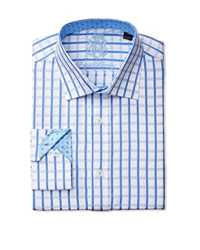 English Laundry Men's Grided Dress Shirt