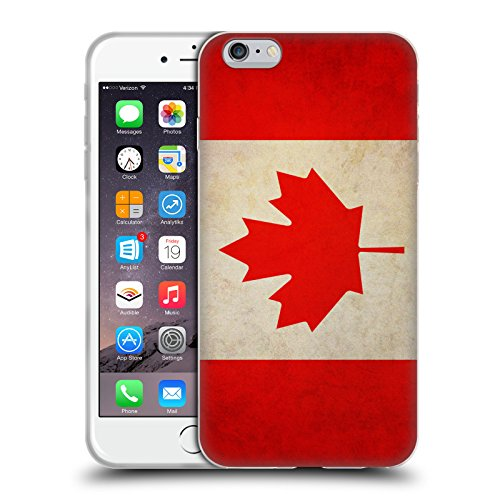 Head Case Designs Canada Canadian Vintage Flags Soft Gel Case for Apple iPhone 6 Plus / 6s Plus (Canada I Phone 6 Cover compare prices)