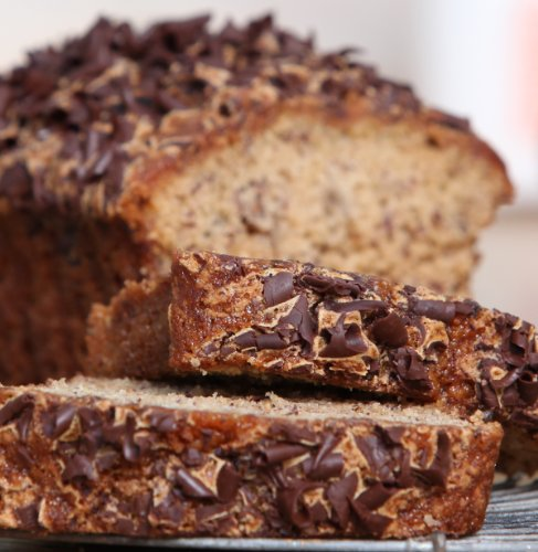 Banana Dark Chocolate Bread - Loaffin