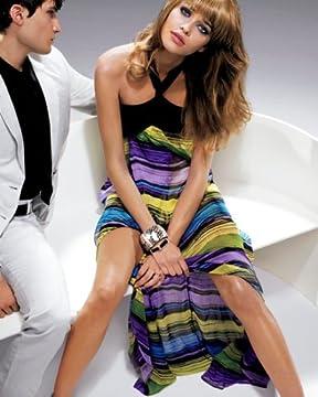 bebe.com : Silk Chiffon Printed Halter Dress