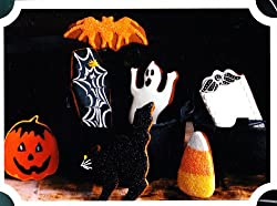Spellbinding Cookie Cutters - Martha Stewart Halloween - Bat Pumpkin Coffin Cat Ghost Gravestone Candy Corn