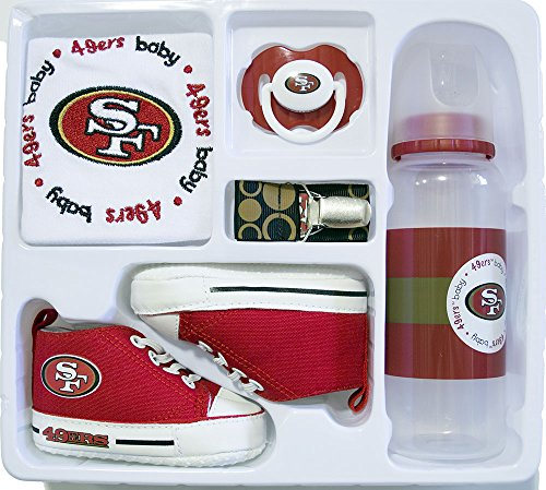 Baby Essentials NFL 5 Piece Newborn Infant Gift Box Set (San Francisco 49ers)