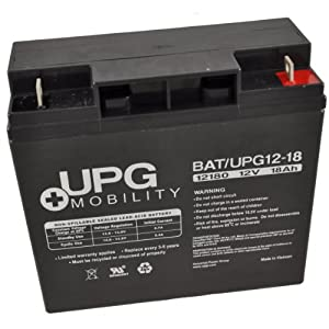 UPG UB12180 12V 18Ah Upg Sealed Lead Acid Agm Mobility Scooter Battery
