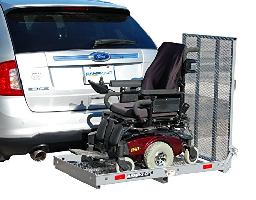 RAMP KING Silver Wheelchair Mobility Scooter Carrier Single Fold Ramp