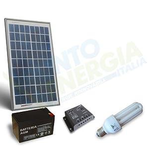 Kit solare illuminazione fluo 10w 12v per interni for Kit da garage stand alone