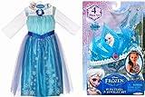 アナと雪の女王 エルサのドレスとティアラとアクセサリー(三点)の5点セット 並行輸入品 USサイズ4-6(99-120cm)