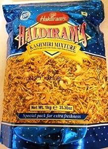 Haldirams Kashmiri Mixture Spicy Blend Of Split Green Gram Noodles Potato Sticks Cashew Nuts - 3530oz 1kg Bulk Pack from Haldiram