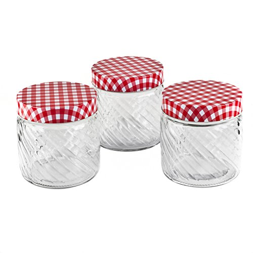 Blue Harbor Collection Glass Ribbed Jar Set (Blue Harbor Collection compare prices)