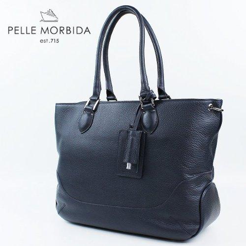 PELLE MORBIDA ペッレ モルビダ トートバッグ TOTE BAG PMO-MB021(ネイビー)